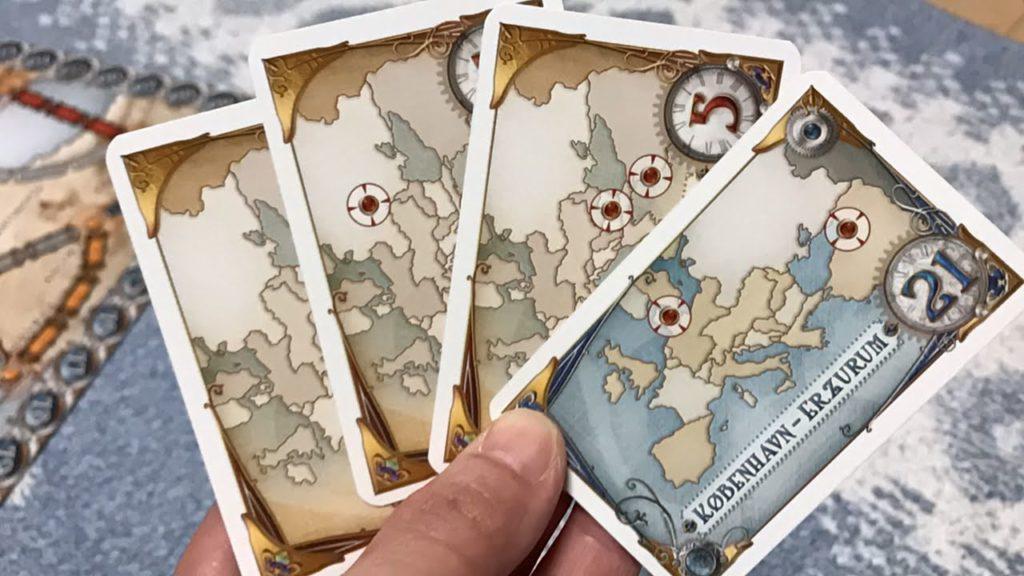 チケット・トゥ・ライドのミッションカード