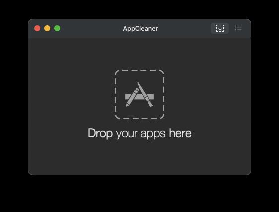 AppCleaner起動画面